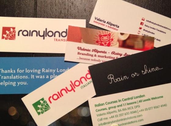 Rainy London Moo cards