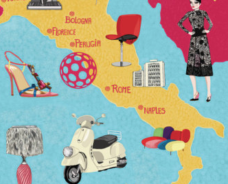 Italy and luxury items in icons