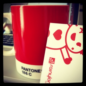 Rainy London Business Cards (and one fave mug)