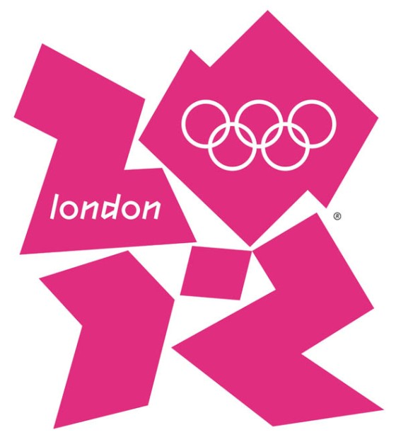 London 2012 logo. Or a huge, pink Lisa Simpson.