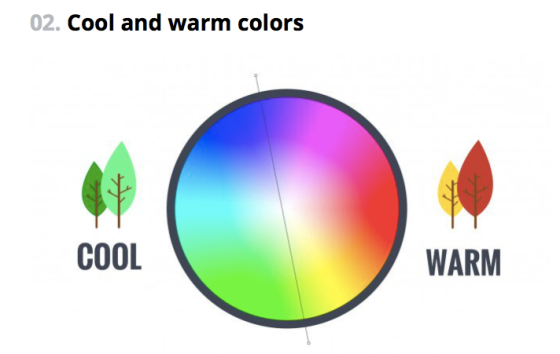 Cool and warm.  (from Canva)