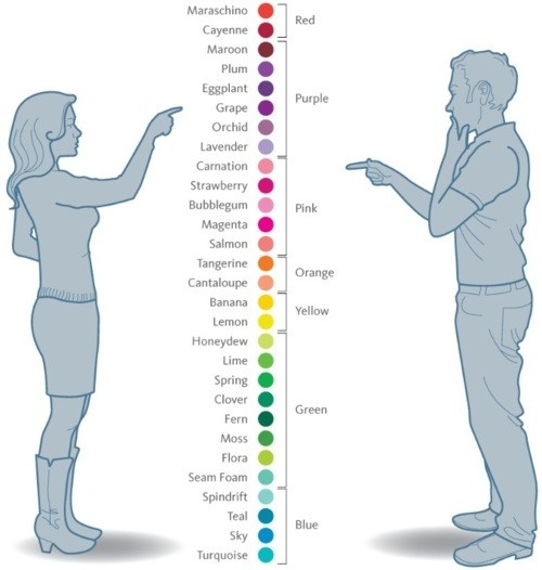 women:men colours