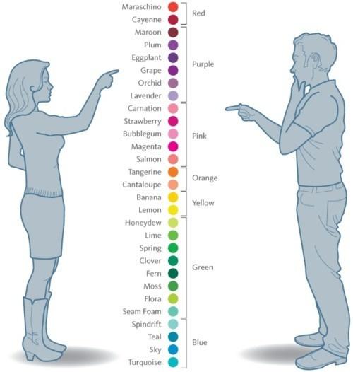 women:men colours